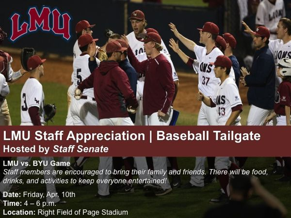 LMU Staff Baseball Tailgate April 2015